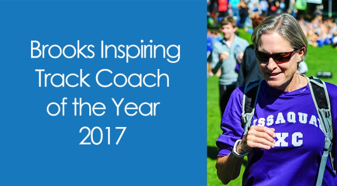 "Robertson Awarded ""Brooks Inspirational Track Coach for 2017"""
